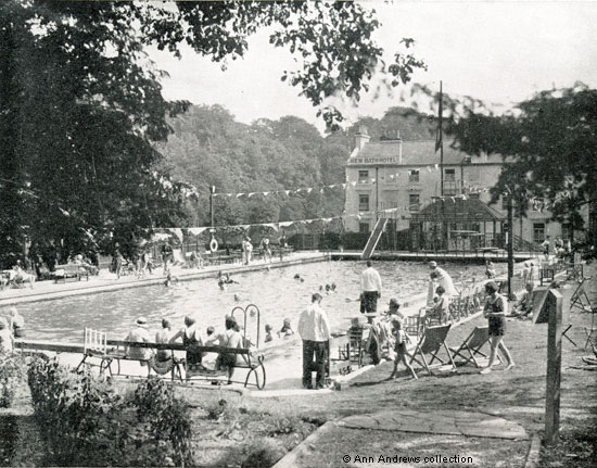Matlock And Matlock Bath Images Matlock Bath New Bath Hotel The Outdoor Swimming Pool
